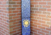 Mosaic cinder blocks