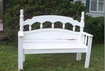 Headboard benches / by Debbie McDaniel