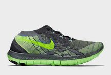 WMNS Nike Free 3.0 Flyknit Grey Voltage Green Running Shoes Free Run 718420-002