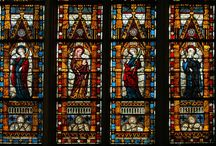 Stained Glass Windows / Stained-glass windows served as a 'poor man's Bible' in the Middle Ages, allowing believers who could not read Latin to learn the story of the Gospels.