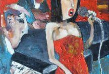 """Jazz"" - painting by Miroslaw Hajnos / Jazz - painting by Miroslaw Hajnos"