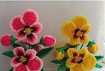 Crochet and knitting flowers - Вязаные цветы / Crochet and knitting - Вязание крючком и спицами