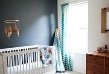 navy blue wall kids room