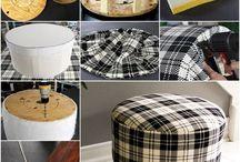 pouf tabure yapımı