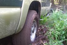 Vehicle got stuck / use the beste product to get vehicle unstuck from mud, snow or snow http://www.tracgrabber.com/