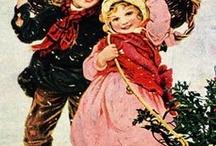 nostalgische Weihnachtskarten