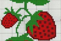 Haft krzyżykowy - Owoce
