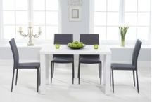 High Gloss Dining Sets / High Gloss Dining Sets are brand new and really popular with the slick white glossy finish making these tables a must have for any modern home. All of our high gloss sets are available with a great variety of different chair combinations to suit everyone all at a great price.