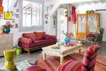 multicolored living room