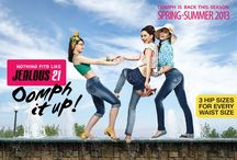 Spring Summer'13 - Look Book / Jealous 21, the exclusive women's wear brand that pioneered hip fit jeans is all set to add a new zing to their hip fit collection this summer.  Jealous 21, launches the 'oomph in colour' this season in dazzling colors to give you a stylish and chic look this summer.