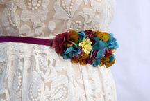 Cinturones Toscana tocados / Cinturones handmade para tus bodas o eventos
