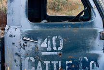 Old service trucks