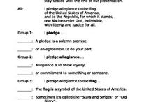 Pledge of Allegiance Choral Reading / The choral reading is a whole class activity.  It explains what the words in the Pledge of Allegiance mean.