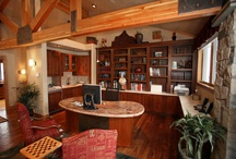 Home Offices that Work / A home office must be stylish and functional!  It needs to feature comfy furnishings, high technology, and a good sense of flow to maximize your efforts for your most productive work!