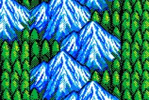 8-bit / retro video game graphics