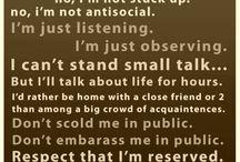 Being An Introvert