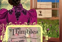 """Books - Thimbles and Thistles (Baker City Brides 2) / A determined widow clashes with a handsome and charming lumberman in the 1890s town of Baker City, Oregon. Don't miss out on the sweet and clean historical western romances set in the """"Denver of the Blue Mountains."""" http://amzn.com/B00TCV6BFG"""