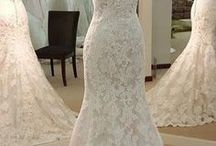 Wedding dresses & hair