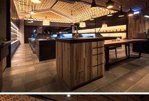 Decke Design-Idee – Eine Gewebten Holz Abgehängten Decke Schafft Eine Dramatische Kathedrale Wirkung In Diesem Tee-Shop
