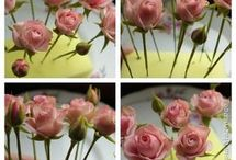 květiny na dorty