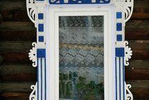 Russian wooden windows