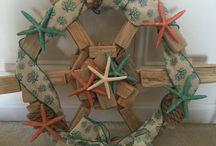 Driftwood starfish wreath / Driftwood starfish beaches wreath