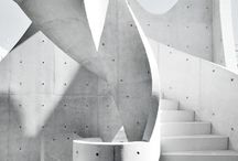 Concrete Inspiration / I love concrete. I adore architecture. Black white & grays are my colors.