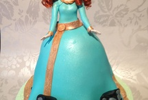 Merida Brave Doll Cake