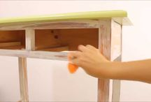 Chalk Paint / Consigue el efecto Chalk Paint con nuestros vídeo-tutoriales y nuestro nuevo Esmalte Acrylic :D