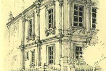 arhitecture sketches