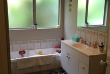 Bathroom Reno B&A / Our with the old... In with the new, this bathroom needs to go!