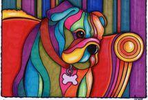 Perros colores