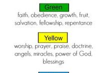 Bible coloring chart