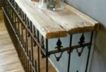 I old wood wrought iron fencing