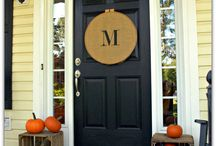 Front Door and wreaths / by Amber Swan