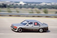 Mercedes-Benz 190 E 2.3-16 / The Mercedes-Benz 190 E 2.3-16 was a star of the year 1983 – and set no less than several records between 11 and 21 August on the high-speed track in Nardò. In just 201 hours, 39 minutes and 43 seconds it covered a distance of 50,000 kilometres.