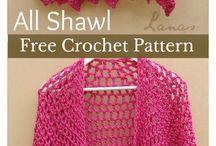 Crochet shawl or poncho