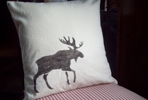 Moose Decor and More! / Despertly Seeking Moose ...Woods/Forest Themed Curtains that don't cost a bundle!