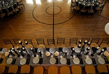 Gold with Black & White Stripes / by Atlas Party Rental