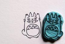 lino-carved stamp-gravure
