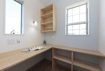 施工写真|書斎・ワークスペース / こんな自分だけのスペースがあったら作業もはかどりますね♪