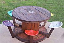 Wood Spool Tables