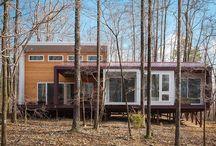 Modern off-grid cabin