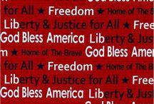 God Bless America! / Patriotic Cotton Fabrics and Crafting Ideas