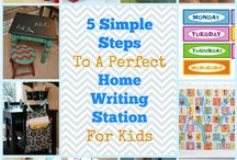 Home Inspiration: Writing Station for Kids