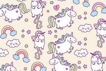 wallpaper unicorn pattern