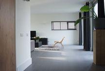 Totaal project tegelvloer betonlook antraciet 100 x 100 cm met lichtplan / Totaal project tegelvloer betonlook antraciet 100 x 100 cm met lichtplan