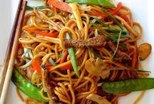Thai yellow noodle