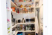 Pantry Ideas / Here are just some of the pantry options that could work for your kitchen. Don't forget, we custom make anything so if you have a different idea, let us know! www.thekitchendesigncentre.com.au
