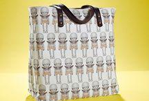 01WARDROBE Autumn/Winter 2013 - Bighead Orange Tote Bag / Cow Skin Leather Shoulder Straps // %100 Cotton Canvas bag / Printed bag / İllustrated bag /  Bighead Orange Tote Bag, $69